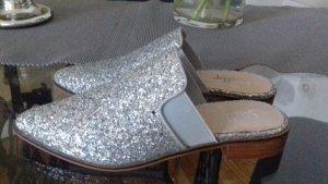 Pantoletten Silber 37