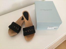 Strenesse Blue Sandalo con tacco nero Pelle