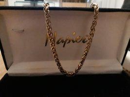 Panzerkette Halskette Collier Vintage Vergoldet Monet