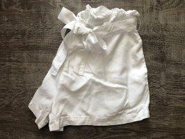 Review Pantalón corto de talle alto blanco-blanco puro