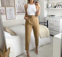 Zara Hoge taille broek lichtbruin
