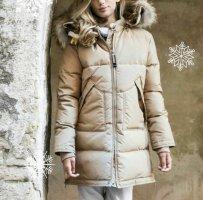 """Parajumpers cappuccino-farbene Long Bear Jacke in """"S"""""""