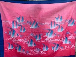 Serviette de plage rose-bleu clair
