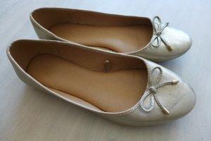 Parfois Schuhe Ballerinas flach gold silber schimmer glitzer Gr. 38