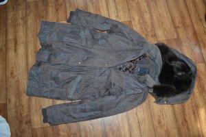 Cosima Between-Seasons-Coat black brown-dark brown