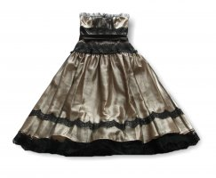 Apart  glamour Evening Dress black-gold-colored