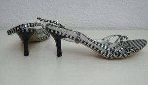 Party Tanzen Sandalette Größe 41 Schwarz Silber