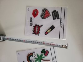 Patch set Bügelbilder colloseum Lippenstift