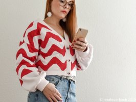 Patchwork Handmade oversized wide sleeve Crop Cardigan