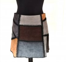 Zara Faux Leather Skirt multicolored