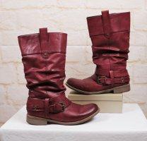 Rieker Chukka boot gris anthracite-rouge foncé polyuréthane