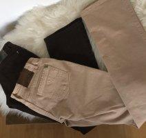 Patrizia Pepe Jeans flare crème-brun foncé