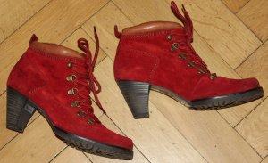 Paul Green Booties Stiefelette im Wanderschuhstil rot Dirndl Look Gr. 38 (5)