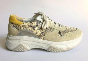 Paul Green Chunky Sneaker Plateau Sneaker beige Reptillederoptik Gr. 40 WIE NEU