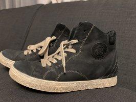 Paul Green Leder Sneaker hoch shabby schwarz Gr.37
