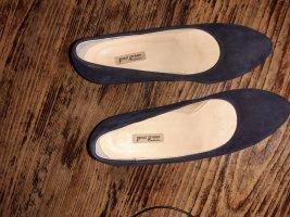 Paul Green München Chaussure à talons carrés bleu foncé cuir