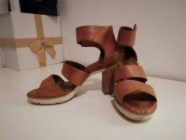 Paul Green München Platform Sandals beige leather