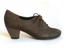 Paul Green Lace Shoes dark brown-brown leather