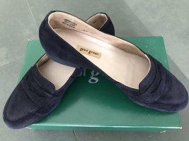 Paul Green Moccasins dark blue leather