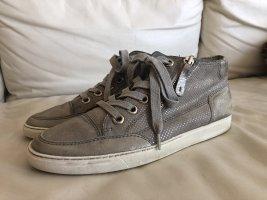 Paul Green Sneaker, Gr. 38, Grau/Silber/used, komplett Leder. Sehr guter Zustand!