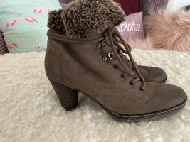 Paul Green Stiefel Gr 38 UK 5 Taupe mit Fell