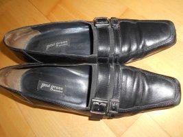 Paul Green vintage schwarz Gr.39 Glattleder Slipper