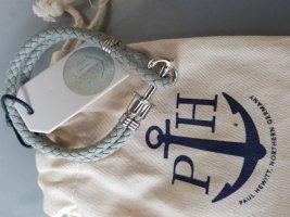 Paul Hewitt Phrep Leder Armband grau silber NEU OVP mit Etikett u. Staubbeutel