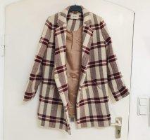 Nanushka Krótki płaszcz kremowy-bordo