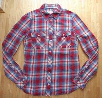 Peak performance Camisa de franela rojo ladrillo-azul aciano