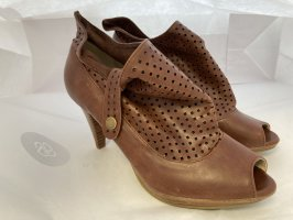 Jumex Peep Toe Pumps brown-cognac-coloured