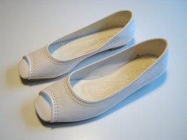 Peep Toe Ballerinas white