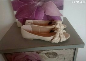 Dorothy Perkins Peep Toe Ballerinas cream-nude