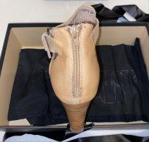 Peep Toe Booties multicolored leather