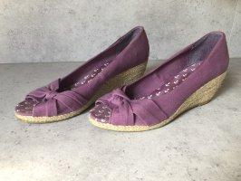 Espadrille violet-beige clair