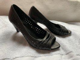 Andrea Sabatini Peep Toe Pumps black