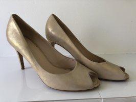 Kennel und Schmenger Peep Toe Pumps gold-colored