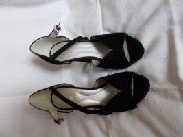 Geox Peep Toe Pumps black leather