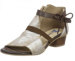 Pinto Di Blu Roman Sandals brown-oatmeal leather