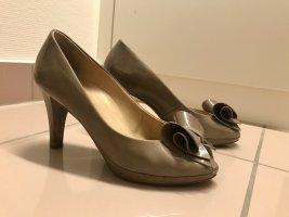 Paul Green Peep Toe Pumps camel leather