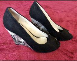 Peeptoes, Keilabsatz Schuhe,Handarbeit,Gr:37,NEU