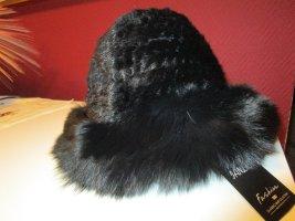 Cappello di lana nero Pelliccia