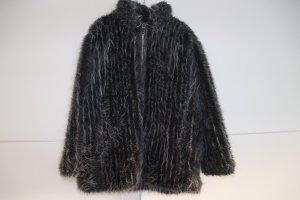Air Field Giacca in pelliccia nero-bianco