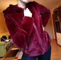 Amisu Giacca in pelliccia rosso scuro