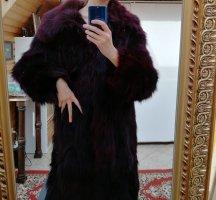 Pelliza rojo zarzamora-violeta amarronado
