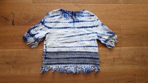 Pepe Jeans Batik shirt wit-blauw