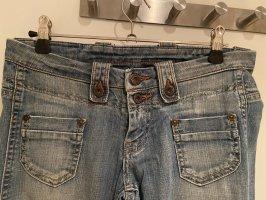 Pepe Jeansowe spodnie dzwony błękitny