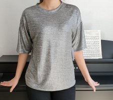 Pepe Jeans shirt silver metalic look Solange oversize T-SHIRT silber