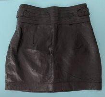 Pepe Jeans London Leren rok zwart