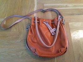 """Peppige, orange BREE Leder-Beuteltasche (bucket bag) Typ """"Stockholm"""", sehr guter Zustand"""