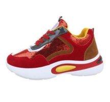 Peppige Turnschuhe/Sneaker - Absatz - Größe 37 - Red/White/Yellow
